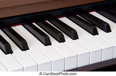 Keyboard - Photo of a piano keyboard close up