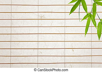 rice paper background with bamboo leaves - rice paper blinds...