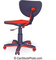 modern office chair - Plastic modern office chair on castors