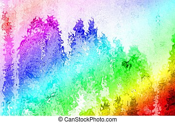 rainbow colors of disorted swirl paint