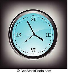 vector illustration of wall clock