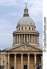 Pantheon - Famous cupola of Pantheon in Paris, France