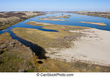 River on the Prairies - South Saskatchewan River seen from...