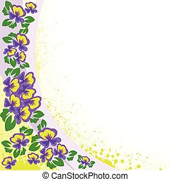 abstract background with violets