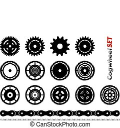 cogwheel - Cogwheel set isolated on the white