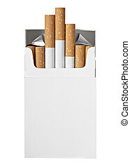 cigarette box smoking - close up of a box of cigarettes on...