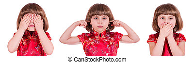 See, Hear and Speak No Evil - Pretty little girl: no see, no...