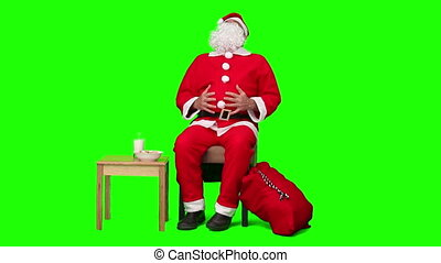 Santa Claus waiting - Chromakey footage of santa Claus...