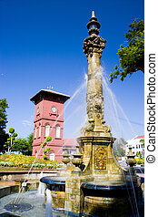 Victorian Fountain and Dutch Clock - Victorian fountain and...