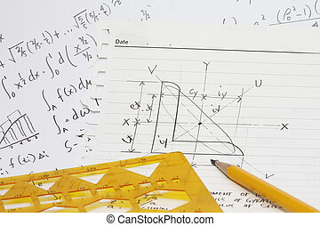 Equations integral calculus and templates - concept for...