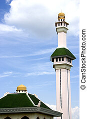 Al-Azim Mosque located at the ancient historical city of...