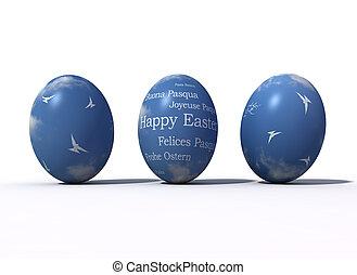 fantasy easter eggs -digital artwork
