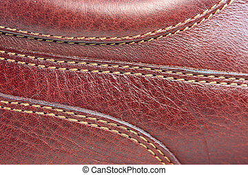 Leather stitches