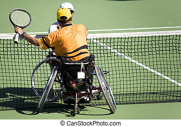Wheel Chair Tennis for Disabled - Wheel chair tennis players...