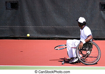 Wheel Chair Tennis for Disabled - A wheel chair tennis...