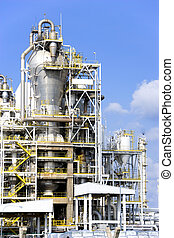 Oil Refinery - Equipment at an oil refinery facility.
