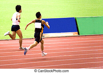 Mens 1500 Meters for Disabled - Disabled athletes competing...