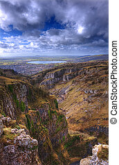 Beautiful natural landscape over limestone cliffs with...
