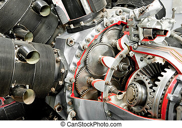 propeller engine - precision mechanics inside a vintage...