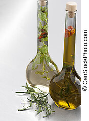 Vinegar and olive oil