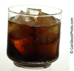 Glass of Soda - A stock photo of a glass of soda set against...