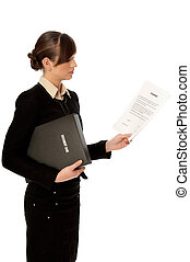 Features of contract - General director reading a contract...