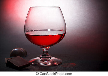 Luxury red liqueur and milk chocolate - Luxury red liqueur...