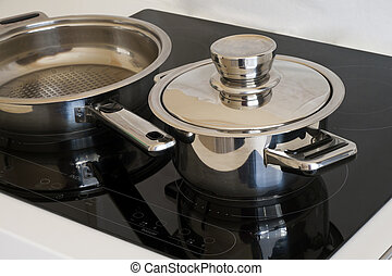 induction cooker - Modern kitchen, Induction cooker and...