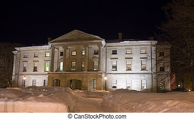 Province House at night - Province House in Charlottetown...