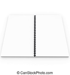 3d blank notebook  with spiral