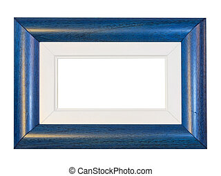 Blue frame panorama - Blue panorama frame isolated included...
