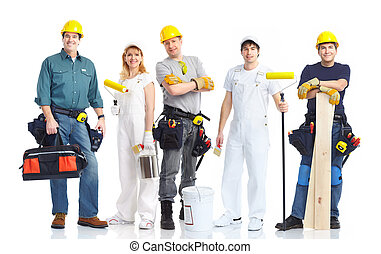 contractors workers - Industrial contractors workers people...