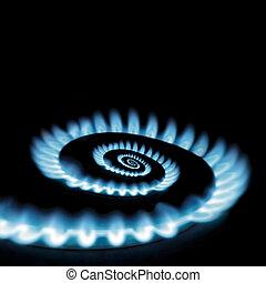 Gas burner - Conceptual vicious circle of energy crisis gas...