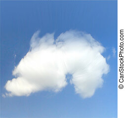 cielo, y, nubes, vector