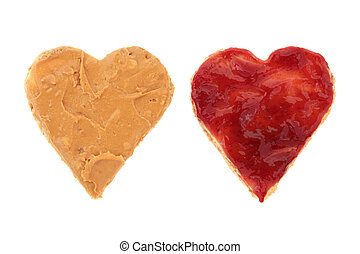 Peanut Butter and Jelly Love - Peanut butter and raspberry...