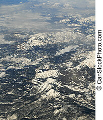 山, 写真, 航空写真