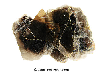 phlogopite mica - hand sample of dark phlogopite mica sheet...