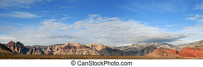red rocks panorama - panorama of Red Rocks National...