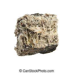 isolated asbestos - rock sample of mineral asbestos isolated...