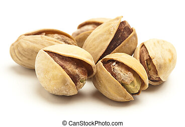 pistachios stack isolated on a white background
