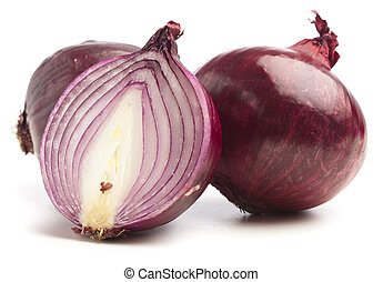 purple onion isolated on a white background