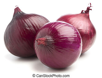 purple onion pile isolated  on a white background