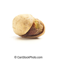 pistachio - single pistachio isolated on a white background
