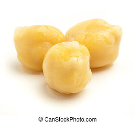 chickpeas - delicious chickpeas isolated on a white...