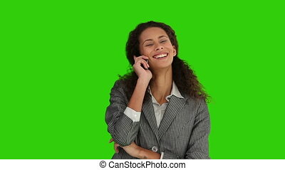 African woman talking on the phone