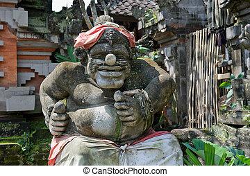 Statue of Balinese demon in Ubud