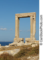 Portara gate, Naxos, Greece