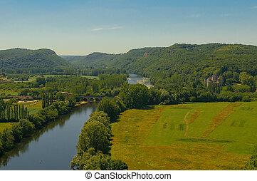 Valley of Dordogne river, France