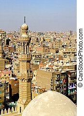 Cairo aerial - Aerial shot of Cairo from mosque top