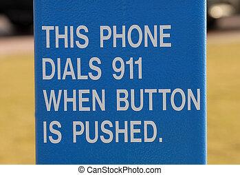 señal, Dar, instrucciones, el marcar, 911